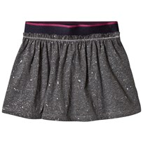 United Colors of Benetton Jersey Skirt With Micro Shiny Star Print Grey Sort