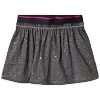 United Colors of Benetton Jersey Skirt with Micro Shiny Star Print Grey Black