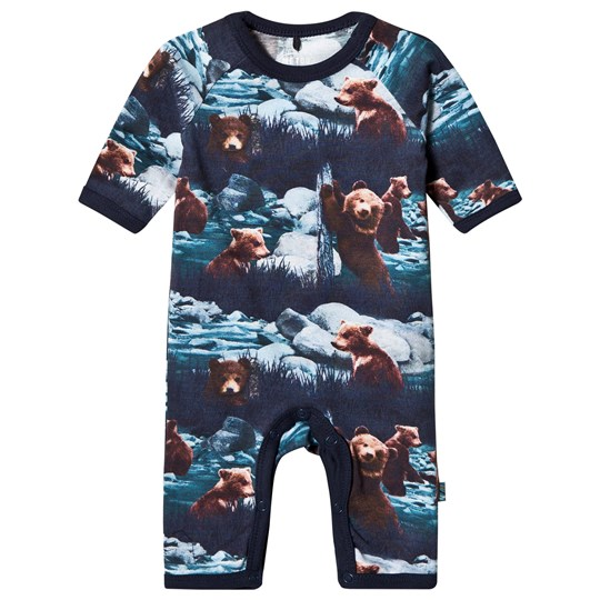 Me Too Navy Night One-Piece Bear Navy