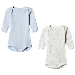 Petit Bateau 2 Pack Baby Body White and Blue