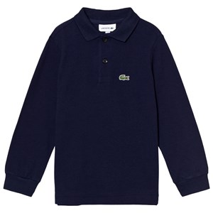 Lacoste Navy Classic Long Sleeve Pique Polo 16 years