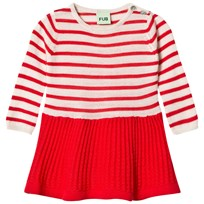 FUB Baby Dress Ecru/Red ecru/red