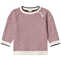 FUB Baby Rhombus Sweater Ecru/Navy/Red ecru/navy/red