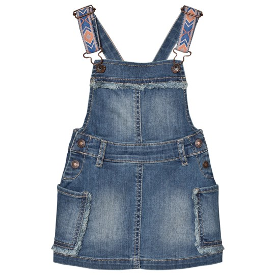 United Colors of Benetton Denim Dungaree Dress Blue