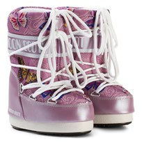 Moon Boot Mb Jr Butterfly Lilac Lilac