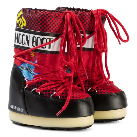 Moon Boot Moon Boot Comics Black/Red BLACK-RED