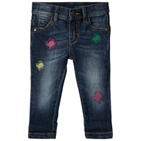 United Colors of Benetton Relaxed Fit Washed Denim Trouser Blue Blue