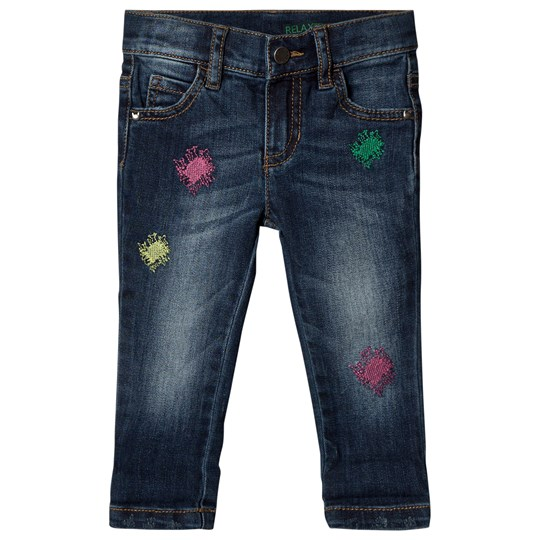 United Colors of Benetton Relaxed Fit Washed Jeans Blå Blue