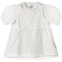 The Tiny Universe Tiny Sparks Dress White & Gold White & Gold