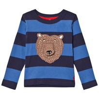 Tom Joule Navy and Blue Bear Applique Long Sleeve Tee FRENCH NAVY STRIPE BEAR