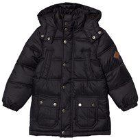 Tom Joule Black Padded Parka with Detachable Hood Black