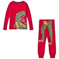 Tom Joule Red Dinosaur Print Short Pyjamas Red