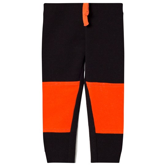 United Colors of Benetton Color Block Joggers with Knee Patches Detail Black Black
