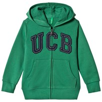 United Colors of Benetton Jersey Logo Zip Hoodie Green Green