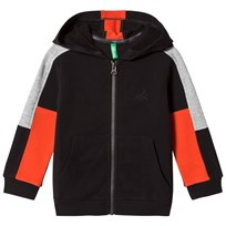 United Colors of Benetton Color Block Zip Hoodie Black Black