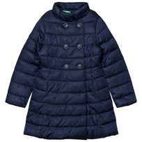 United Colors of Benetton Long Puffa Coat Navy Navy