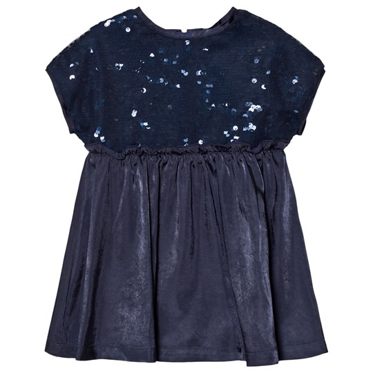United Colors of Benetton Sequins Top A Line Dress Navy Navy