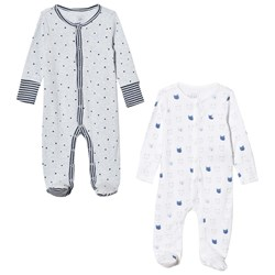 GAP 2-Pack Favorite Footed Baby Body Light Blue Heather