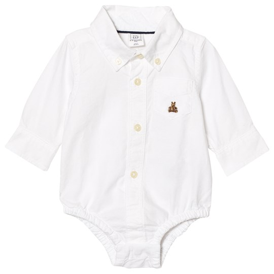GAP Oxford Button Up Baby Body White White