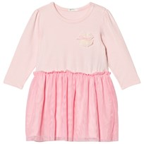 United Colors of Benetton L/S Jersey Dress With Tulle Skirt Light Pink Light Pink