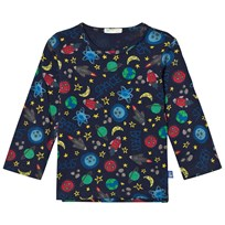 United Colors of Benetton L/S Space Print T-Shirt Navy Navy