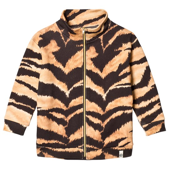 Popupshop Brown Tiger Lecce Zip Sweatshirt Tiger AOP