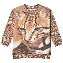 Popupshop Loose Sweat Cat AOP Cat AOP
