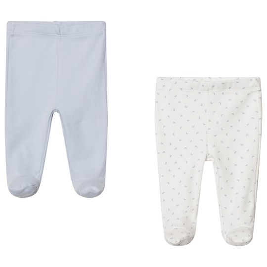United Colors of Benetton 2 Pack Plain & Printed Bottoms  Blue&White BLUE&WHITE