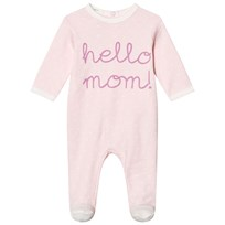 United Colors of Benetton Hello Mom All Over Print Footed Baby Body Light Pink Light Pink
