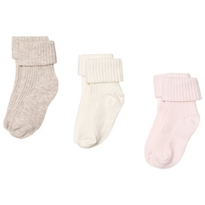 Image of United Colors of Benetton 3 Pack Socks White, Pink & Beige 62 (3-6 mdr) (3125338369)