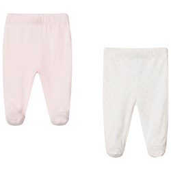 United Colors of Benetton 2-Pack Enfärgade/Mönstrade Leggings Med Fot Rosa/Vit