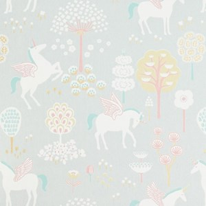 Image of Majvillan rue Unicorn Wallpaper Grey (3001926523)