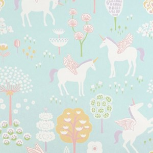 Image of Majvillan True Unicorn Wallpaper Turquoise (3065505855)