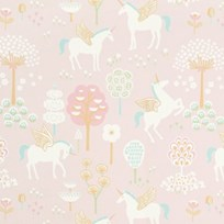 Majvillan True Unicorn Wallpaper Pink Pink