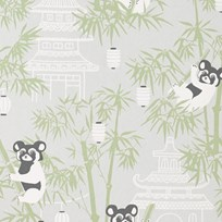 Majvillan Bambu Wallpaper Grey Musta