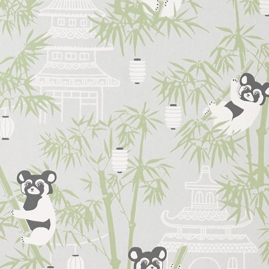 Majvillan Bambu Wallpaper Grey Black