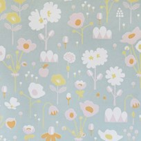 Majvillan Bloom Wallpaper Grey Musta