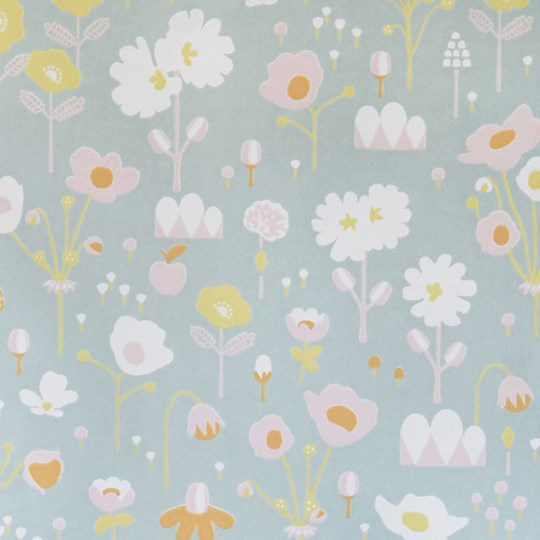 Majvillan Bloom Wallpaper Grey Black