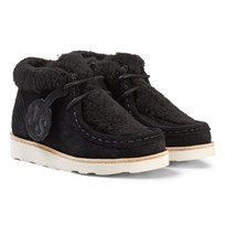 Young Soles Joey Wallabee Boots Black Black Suede