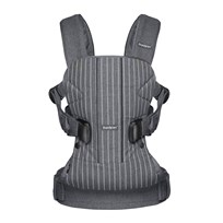 Babybjörn Baby Carrier One Pinstripe/Grey Black