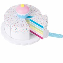 Jabadabado Playing Cake, Rainbow Cake White