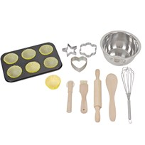 Jabadabado Bakery set with case, Real equipment Black
