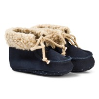 United Colors of Benetton Suede Booties Navy Laivastonsininen
