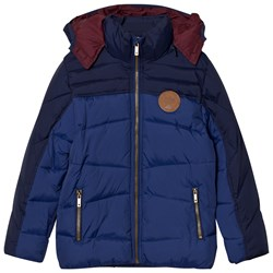 Mayoral Navy and Blue Hooded Coat