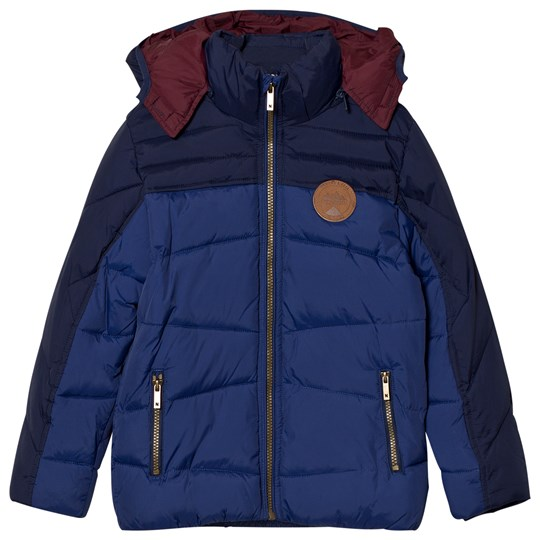 Mayoral Navy and Blue Hooded Coat 89