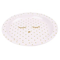 Livly Plate Pink/Gold Dots Pink/Gold Dots