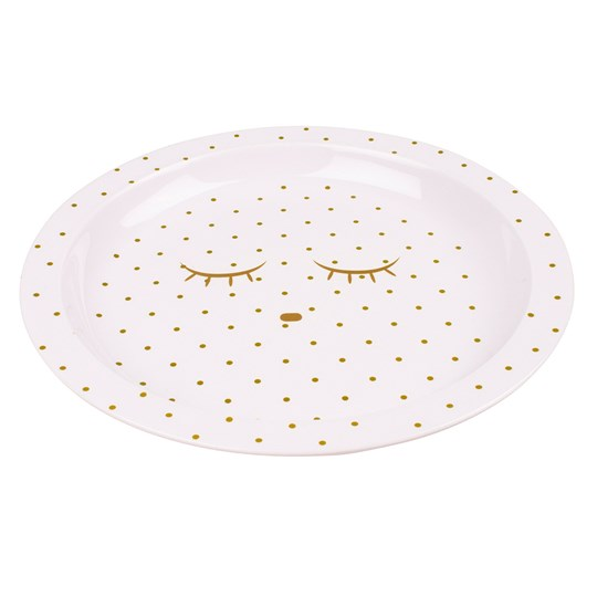 Livly Plate Baby Pink/Gold Dots Pink/Gold Dots