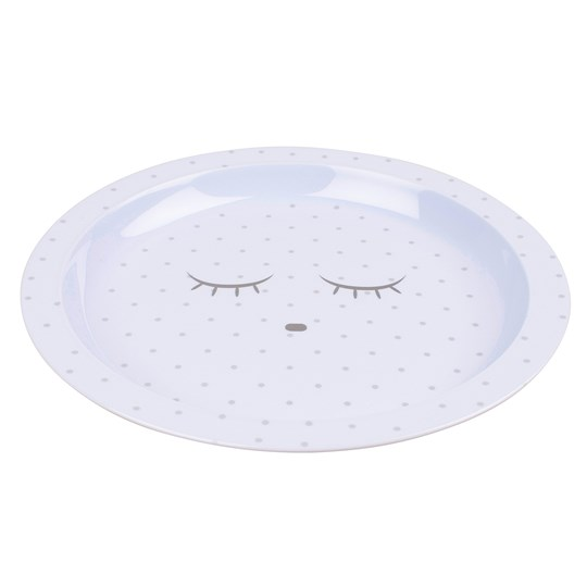 Livly Plate Baby Blue/Silver Dots Blue/Silver Dots