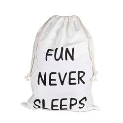 JOX Jox Storage Bag Fun Never Sleeps Off White