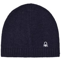 United Colors of Benetton Wool Knit Hat Navy Navy
